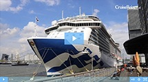 De elegante Regal Princess lag in de haven van Rotterdam!